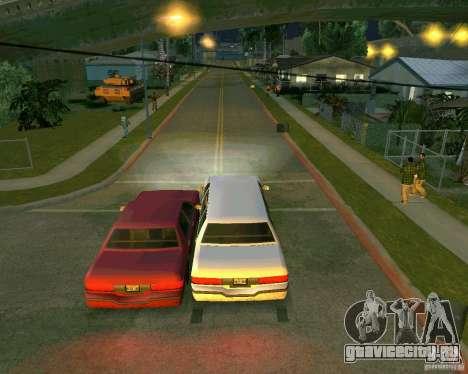 Elegant Limo для GTA San Andreas вид сзади
