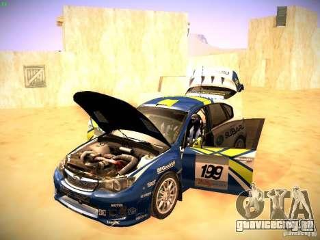 Subaru impreza Tarmac Rally для GTA San Andreas вид сбоку