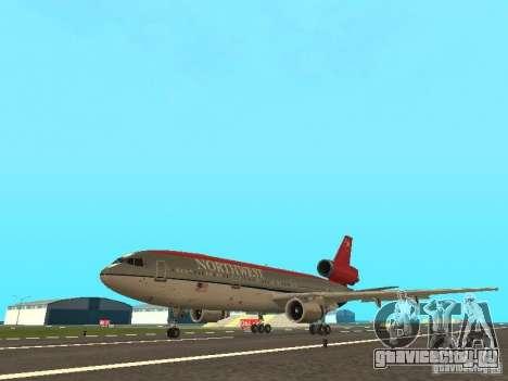 McDonell Douglas DC 10 Nortwest Airlines для GTA San Andreas