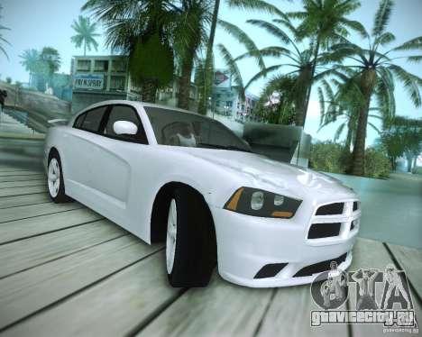 Dodge Charger 2011 v.2.0 для GTA San Andreas вид изнутри
