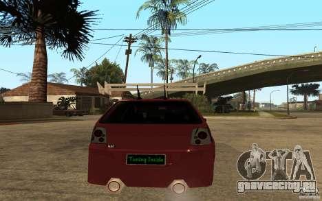 Volkswagen Golf GTI 3 Tuning для GTA San Andreas вид сзади слева