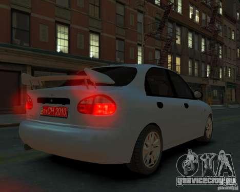 Daewoo Lanos для GTA 4 вид слева