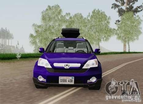Honda CRV 2011 для GTA San Andreas вид сверху