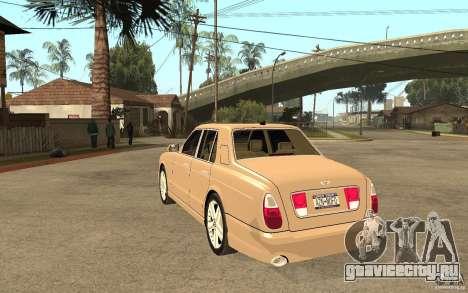 Bentley Arnage для GTA San Andreas вид сзади слева