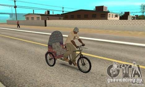 Manual Rickshaw v2 Skin5 для GTA San Andreas вид справа