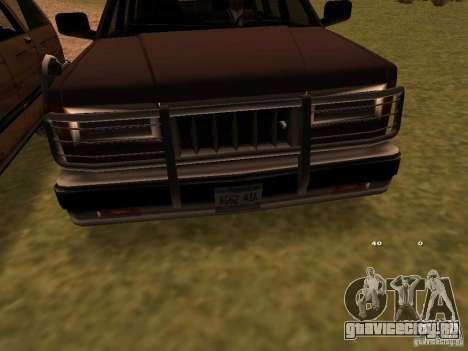 Mountainstalker S для GTA San Andreas вид сзади слева