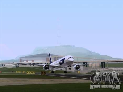 Boeing 787-9 LOT Polish Airlines для GTA San Andreas вид слева