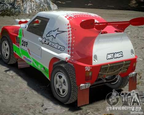 Mitsubishi Pajero Proto Dakar EK86 Винил 2 для GTA 4 вид сверху