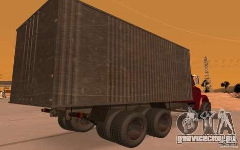 ЗИЛ 6309 для GTA San Andreas вид сзади