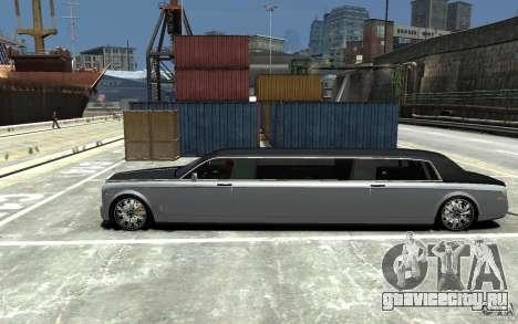 Rolls-Royce Phantom Sapphire Limousine v.1.2 для GTA 4 вид слева