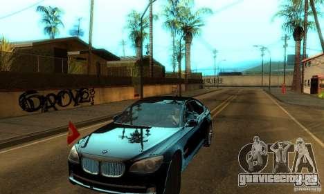 BMW 750Li для GTA San Andreas вид сзади