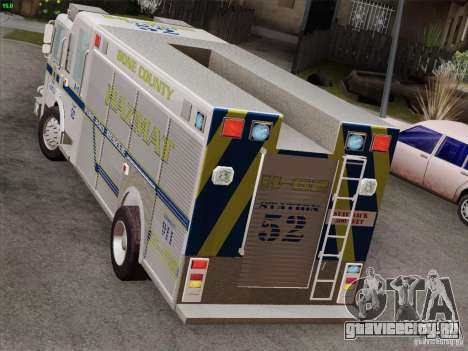Pierce Fire Rescues. Bone County Hazmat для GTA San Andreas салон
