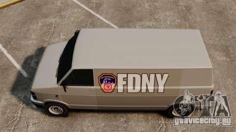 Новые раскраски для фургона Pony для GTA 4 вид справа