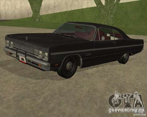 Plymouth Fury III coupe 1969 для GTA San Andreas вид сзади слева