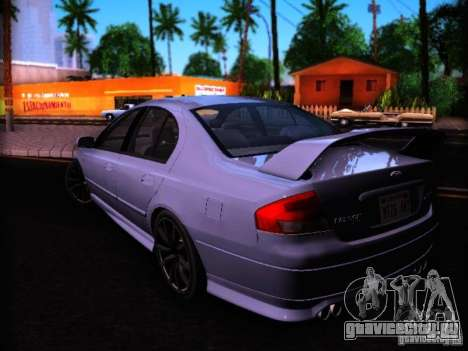 Ford Falcon FPV F6 TYPHOON XR8 2007 для GTA San Andreas вид слева