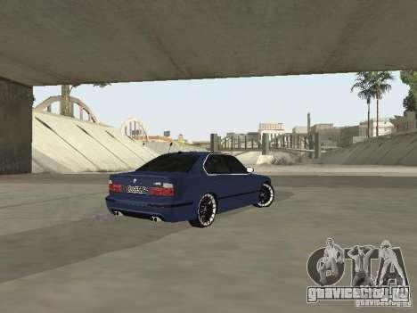 BMW M5 E34 V2.0 для GTA San Andreas вид сзади слева