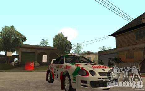 Toyota Celica GT4 DiRT для GTA San Andreas вид сзади