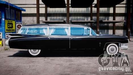 Cadillac Miller-Meteor Hearse 1959 для GTA 4 вид сзади