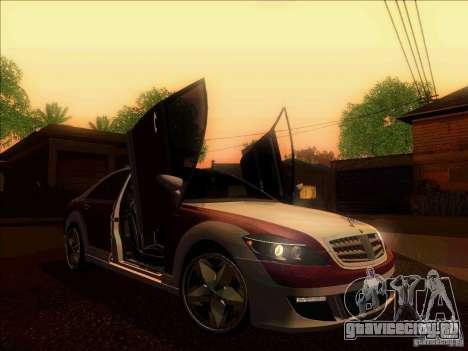 Mercedes-Benz S600 AMG WCC Edition для GTA San Andreas вид изнутри