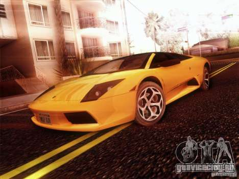 Lamborghini Murcielago Roadster для GTA San Andreas вид справа