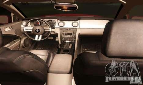 Ford Mustang GT Tunable для GTA San Andreas вид сверху