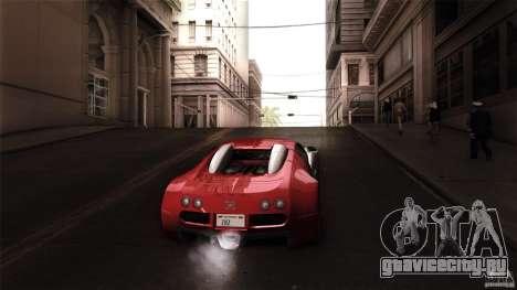 Bugatti Veyron 16.4 для GTA San Andreas вид изнутри