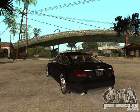 Audi A6 3.0 TDI Quattro для GTA San Andreas вид сзади слева