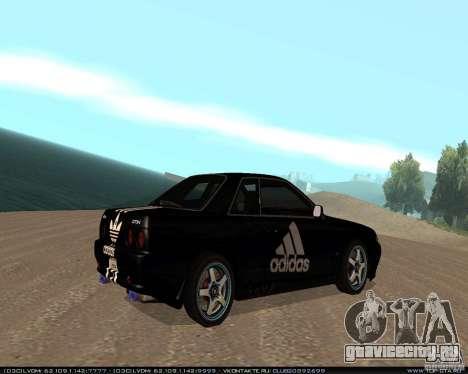 Nissan Skyline R32 GT-R + 3 винила для GTA San Andreas вид справа