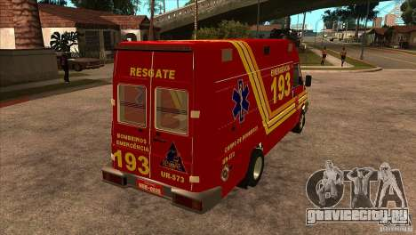 Iveco Daily UR Bombeiros SP для GTA San Andreas вид справа