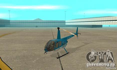 Robinson R44 Raven II NC 1.0 телевидение для GTA San Andreas вид слева