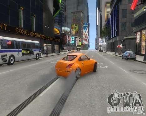 Nissan 350Z для GTA 4 вид изнутри