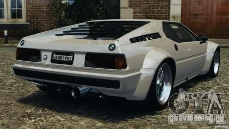 BMW M1 Procar для GTA 4 вид сзади слева