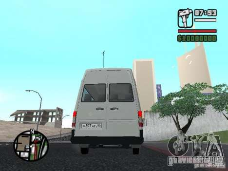 Volkswagen LT 35 Пассажирсикй для GTA San Andreas вид сзади слева