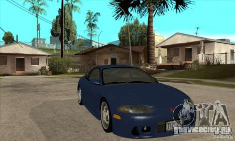 Mitsubishi Eclipse GSX - Stock для GTA San Andreas вид сзади