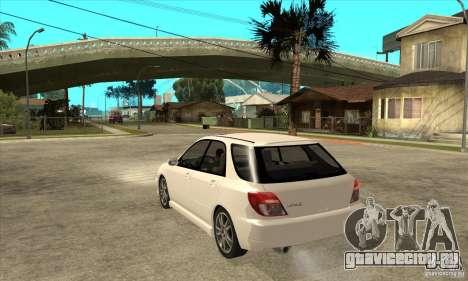 Subaru Impreza WRX Wagon 2002 для GTA San Andreas вид сзади слева