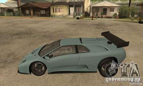 Lamborghini Diablo GT-R для GTA San Andreas вид слева
