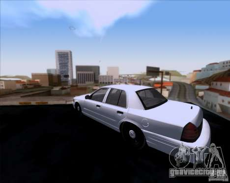 Ford Crown Victoria 2009 Detective для GTA San Andreas вид сзади слева