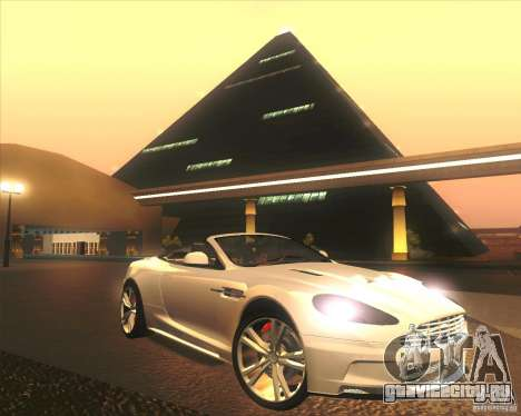 Aston Martin DBS Volante 2009 для GTA San Andreas двигатель