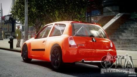 Renault Clio Sport для GTA 4 вид сзади слева