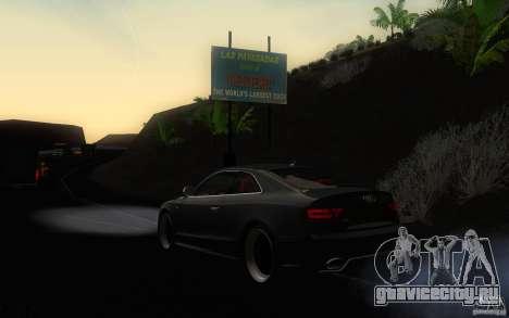 Audi S5 Black Edition для GTA San Andreas вид сзади слева
