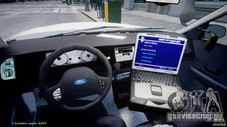 Ford Crown Victoria FBI Police 2003 для GTA 4 вид сзади