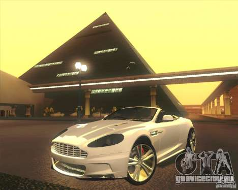 Aston Martin DBS Volante 2009 для GTA San Andreas вид снизу