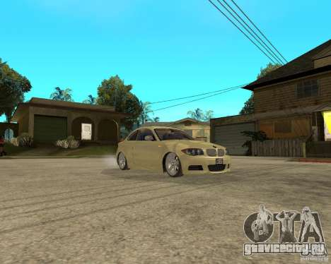 BMW 135i Coupe Stock для GTA San Andreas вид сзади