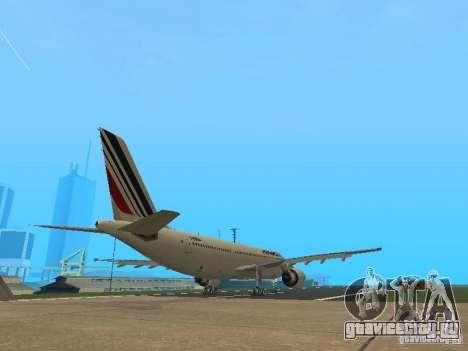 Airbus A300-600 Air France для GTA San Andreas вид сзади