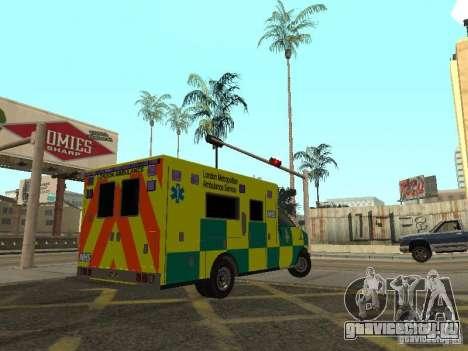 London Ambulance для GTA San Andreas вид сзади слева