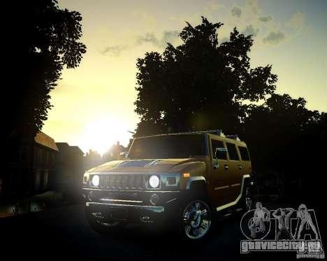 Hummer H2 2010 Limited Edition для GTA 4 вид снизу