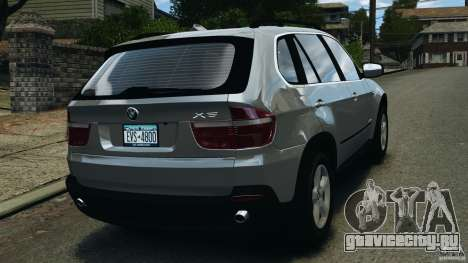 BMW X5 xDrive35d для GTA 4 вид сзади слева
