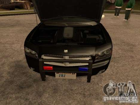 Dodge Charger RT Police для GTA San Andreas вид изнутри