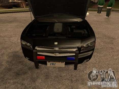 Dodge Charger RT Police для GTA San Andreas вид изнутри