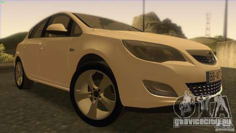 Opel Astra 2010 для GTA San Andreas вид сзади
